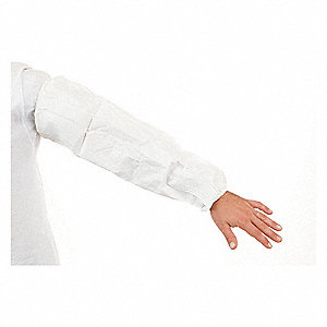 Disposable Sleeves,White,18 In. L,PK200