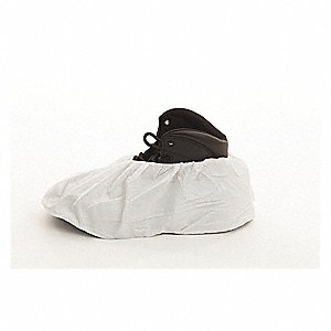 "XL Shoe Covers, Slip Resistant Sole: No, Waterproof: No, 6"" Height"
