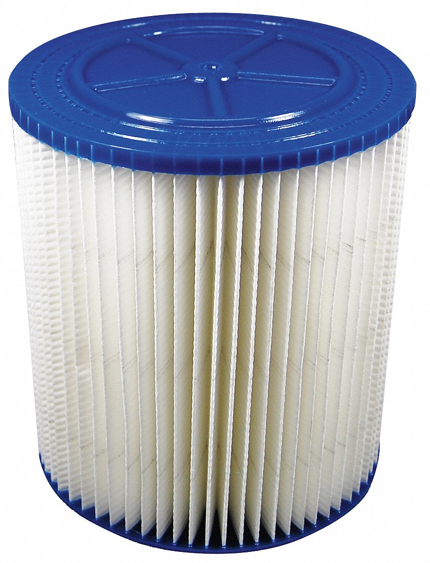 Cartridge Filter,  Paper,  Standard Filtration Type,  For Vacuum Type Shop Vacuum