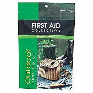 First Aid Kit, Kit, Plastic Case Material, Outdoors, 1 People Served Per Kit