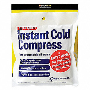 "4"" x 5"" White Instant Cold Pack, 1EA"