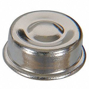 Push Nut Cap,Nickel,7/16 In,PK20
