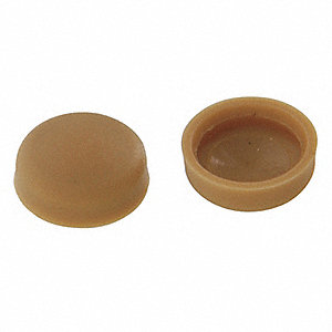 Screw Cover,Tan,1/4 In,PK20