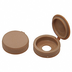 Screw Cover,Hinged,Beige,#4/#6,PK25