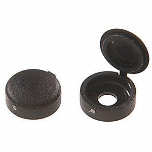 grainger approved plastic screw cover black pk10 6uyw3. Black Bedroom Furniture Sets. Home Design Ideas