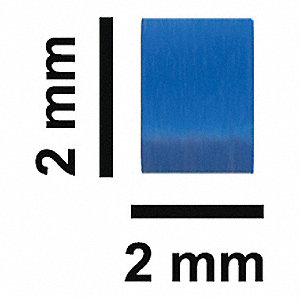 STIR BAR,PTFE,FLEA MICRO, BLUE,2X2MM