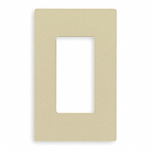Rocker Wall Plate,1 Gang,Ivory