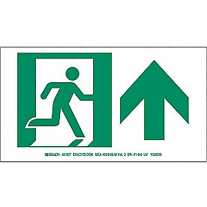 "Directional Sign,5"" x 9"",Polyester,PK10"