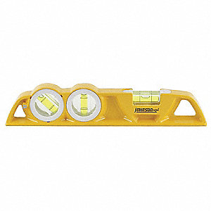 "Magnetic, Aluminum Torpedo Level, 10"" Length, Top Read: Yes"