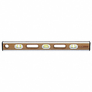 "Nonmagnetic, Bamboo Wood Level, 24"" Length, Top Read: No"