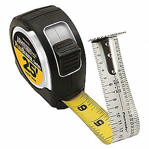 16 ft. Steel SAE Tape Measure, Chrome