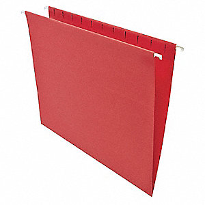 Hanging File Folders, Letter, Red, PK25