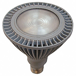 18 Watts Silver PAR38 LED Lamp