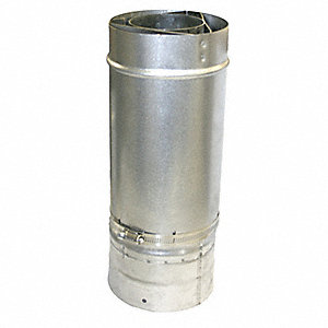 Stainless Steel/Aluminized Steel Waterheater Vent Pipe, For Use With: 6FZN0 to 6FZN3