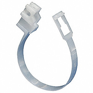 White Loop Hanger, Beam Mounting Location, 25 lb. Max. Load Capacity