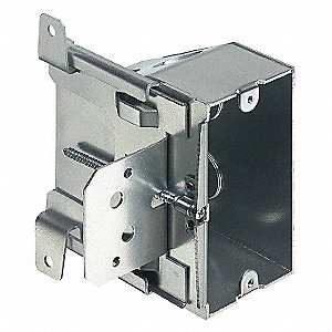 "Electrical Box, Pre-Galvanized Steel, 2"" Nominal Depth, 3-1/2"" Nominal Width, 3-3/4"" Nominal Length"