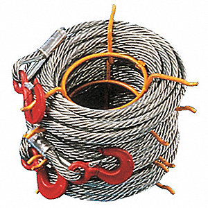 150 ft. Alloy Steel Winch Cable with 8000 lb. Working Load Limit