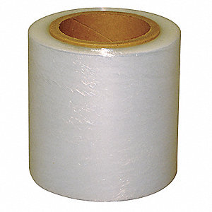 "Stretch Wrap, Hand Dispensed, 1-Side Cling, Standard, 5"" x 700 ft., Gauge: 120, Clear"