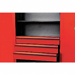 "Red 14-Ga Formed Cold Rolled Sheet Steel Cabinet Drawer Kit, 29-1/2"" Width"