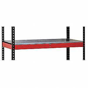 Steel Shelf, Red, 1 EA