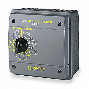 Electronic On Delay Timer, 120/240 Input Voltage, 20 Amps