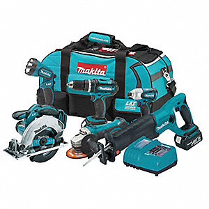 Cordless Combination Kit, 18.0 Voltage, Number of Tools 6