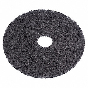 "11"" Black Stripping Pad, Recycled Plastic Polyester Fiber, Package Quantity 5"