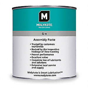 Molykote Metal Assembly Paste Gray Metal Assembly Paste, 17 oz., NLGI Grade: 1