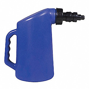 "Battery Filler with Nozzle, Blue, 1"", 2 qt"