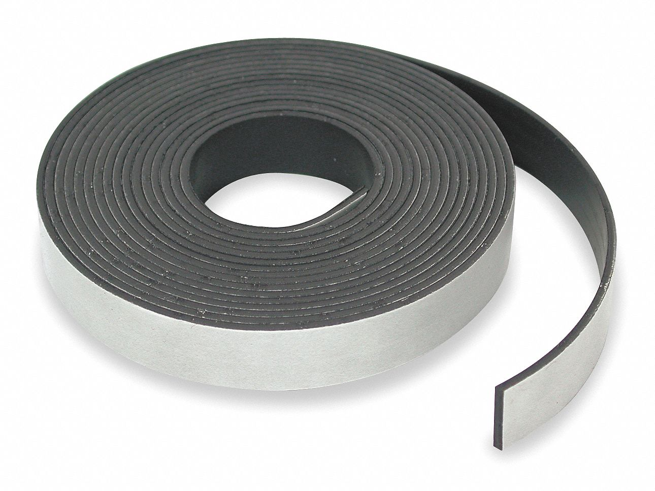 Magnetic Strip,  Indoor Adhesive,  24 lb Max. Pull,  10 ft Length,  2 in Width