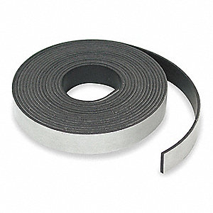 Magnetic Strip,10 ft. L,1/2 In W