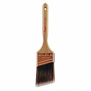 "2-1/2"" Angle Sash Polyester/Nylon Paint Brush, Firm, for All Paint & Coatings"