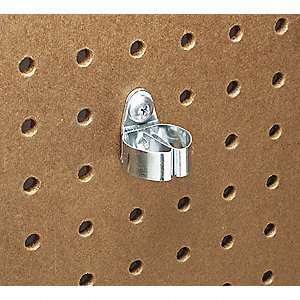Steel Standard Spring Clip, Screw In Mounting Type, Silver, Finish: Bright Zinc