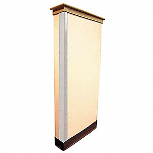 Corner Guard,1-1/2 x 48 In.,White