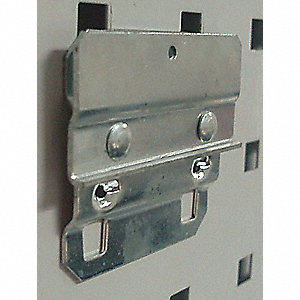 Steel Bin Mounting Clip, Screw In Mounting Type, Silver, Finish: Bright Zinc