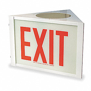 Sign,Three Sided Exit,Use With VEG,VE3Q