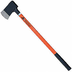 Axe,Orange Fiberglass,36in Handle