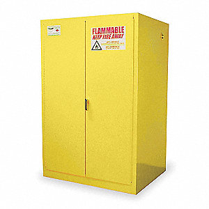 "60 gal. Hazardous Waste and Drum Storage Cabinet, 65"" x 43"" x 34"", Manual Door Type"