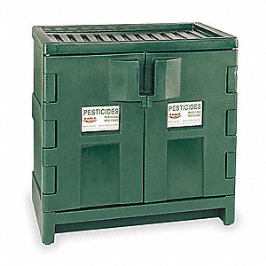 "Pesticide Safety Cabinet, Manual Door Type, 22 gal. Capacity, 36"" Height, 35"" Width, 22"" Depth"