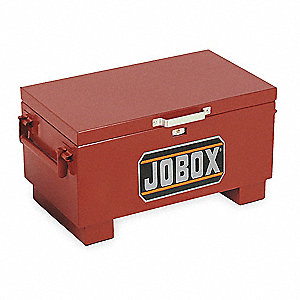 "15-1/2"" x 18"" x 31"" Jobsite Box, 4.0 cu. ft., Brown"