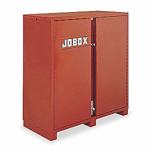 "Brown Jobsite Storage Cabinet, Width: 72"", Depth: 24"", Height: 60-3/4"", Storage Capacity: 49 cu. ft."