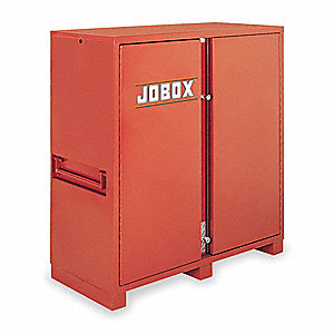 "60-3/4"" x 30-1/4"" x 60-1/8"" Jobsite Storage Cabinet, 58.7 cu. ft., Brown"