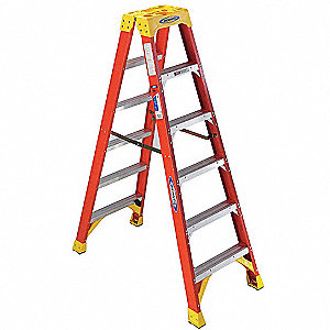 6 ft. 300 lb. Load Capacity Fiberglass Twin Stepladder