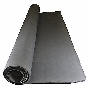 "Water-Resistant Closed Cell Foam Roll, Neoprene-EPDM-SBR, 1/8"" Thick, 42"" W X 25 ft. L, Black"