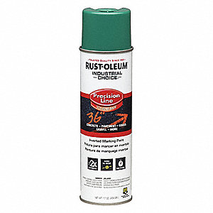 Solvent-Base Precision Line Marking Paint, Safety Green/APWA Green, 17 oz.