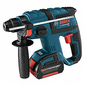 Cordless Rotary Hammer Drill Kit, 18.0 Voltage, Battery Included