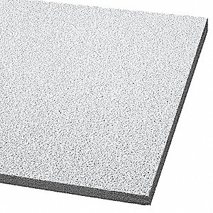"Acoustical Ceiling Tile, 24"" Width, 24"" Length, 5/8"" Thickness, Mineral Fiber"