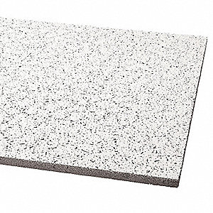 "Ceiling Tile, 24"" Width, 24"" Length, 5/8"" Thickness, Mineral Fiber"