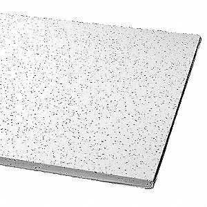 "Acoustical Ceiling Tile, 24"" Width, 24"" Length, 3/4"" Thickness, Mineral Fiber"