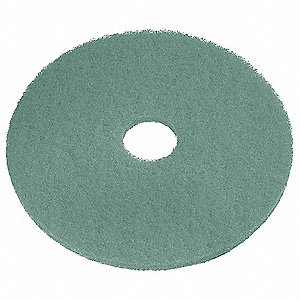 "27"" Aqua Burnishing Pad, Recycled Plastic Polyester Fiber, Package Quantity 5"